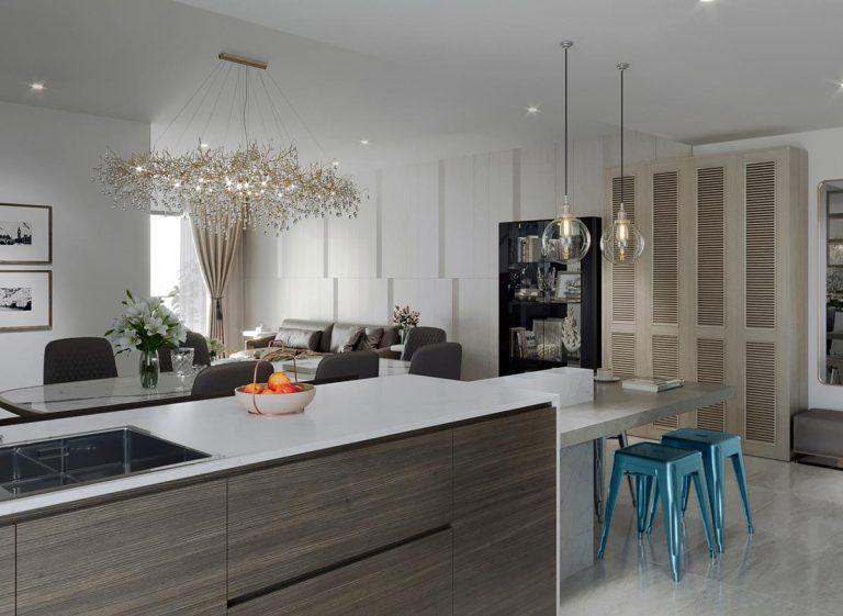 Thiết kế nội thất căn hộ chung cư Hado Centrosa 3 phòng ngủ